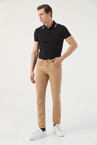 Twn Slim Fit Camel Dokulu Chino Pantolon - 8682445337075 | D'S Damat