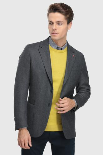 Ds Damat Slim Fit Lacivert Düz Kumaş Ceket - 8682060851000 | D'S Damat