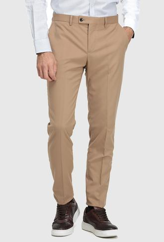 Twn Slim Fit Camel Düz Kumaş Pantolon - 8682060017161   D'S Damat
