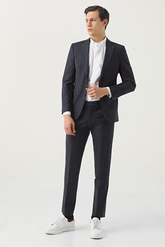 Ds Damat Slim Fit Lacivert Düz Takım Elbise - 8682445049169 | D'S Damat