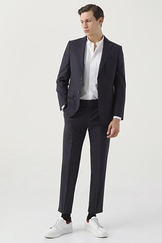 Ds Damat Regular Fit Lacivert Düz Travel Takım Elbise - 8682060022141 | D'S Damat