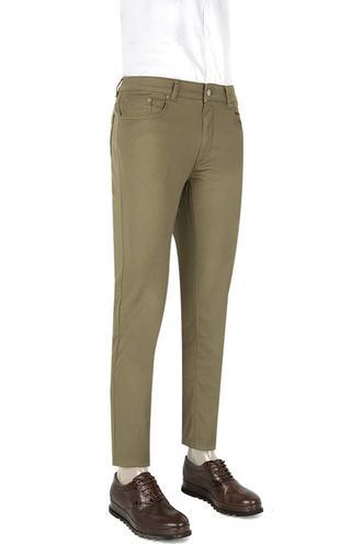 Ds Damat Slim Fit Haki Düz Chino Pantolon - 8681494408293 | D'S Damat