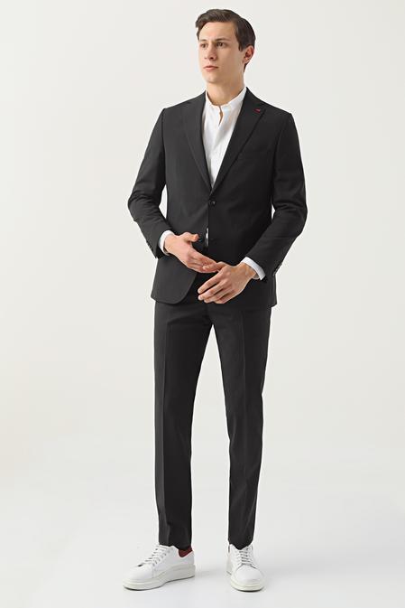Ds Damat Comfort Siyah Düz Takım Elbise - 8682445050622 | D'S Damat