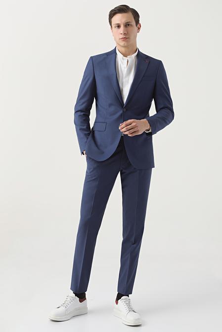 Ds Damat Regular Fit Saks Mavi Düz Travel Takım Elbise - 8682445052619   D'S Damat