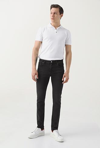 Ds Damat Slim Fit Siyah Düz Denim Pantolon - 8682445184457 | D'S Damat