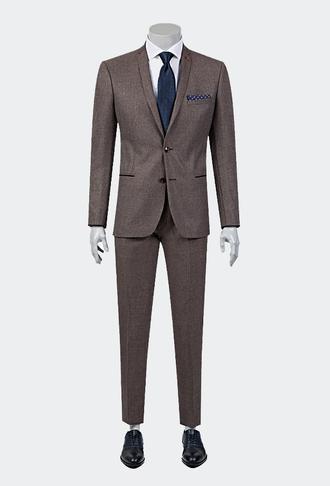Twn Süper Slim Fit Slim Fit Bordo Takım Elbise - 8681778711293   D'S Damat