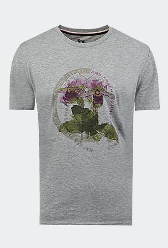 Ds Damat Regular Fit Gri Baskılı T-shirt - 8681778945605   D'S Damat