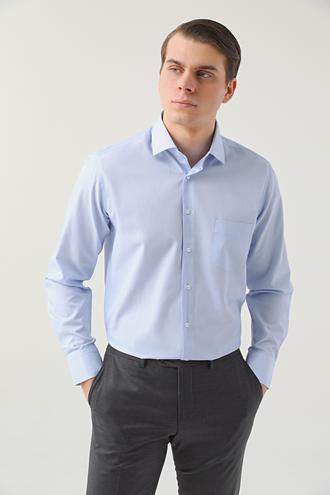 Ds Damat Regular Fit Mavi Çizgili Gömlek - 8682060894250 | D'S Damat