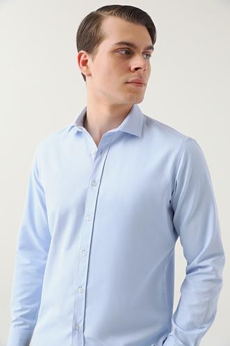 Twn Slim Fit Mavi Armürlü Gömlek - 8682445082883   D'S Damat