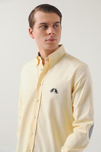 Ds Damat Regular Fit Sarı Gömlek - 8681494935270   D'S Damat