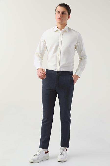 Twn Slim Fit Lacivert Jogger Pantolon - 8682445187755 | D'S Damat