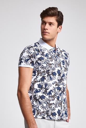 Ds Damat Slim Fit Beyaz Baskılı T-shirt - 8682445021790 | D'S Damat