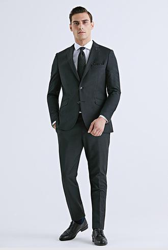 Tween Slim Fit Antrasit Düz Takım Elbise - 8682364628728 | Damat Tween