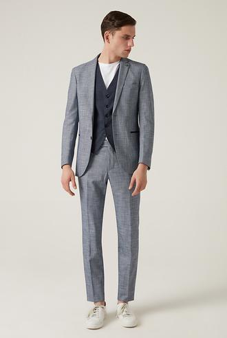 Tween Slim Fit Lacivert Yelekli Takım Elbise - 8682364502080   Damat Tween