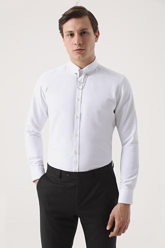 Twn Slim Fit Beyaz Gömlek - 8682445121742   D'S Damat