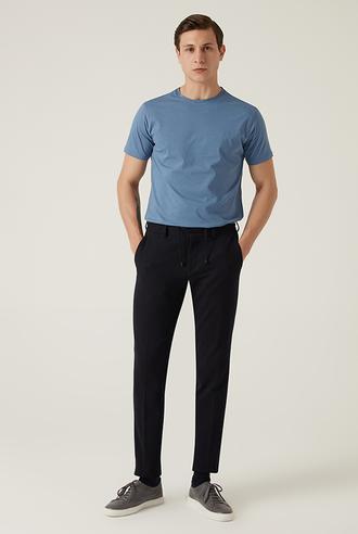 Damat Slim Fit Lacivert Örme Jogger Pantolon - 8682364708093 | Damat Tween