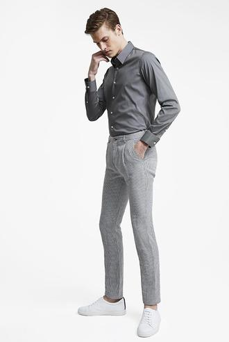Tween Slim Fit Gri Kaz Ayağı Chino Pantolon - 8682364770458   Damat Tween