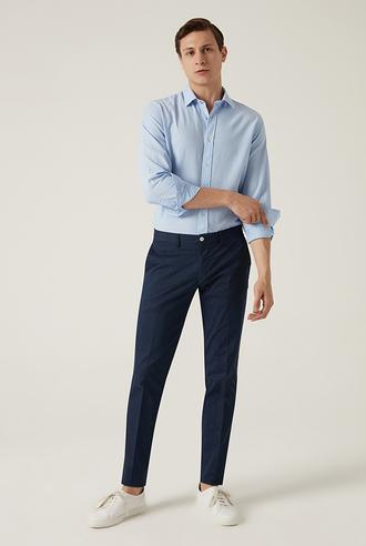 Damat Slim Fit Lacivert Chino Pantolon - 8682364792085   Damat Tween