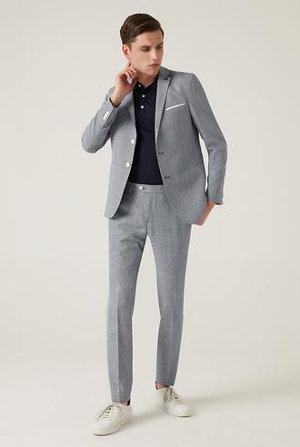 Tween Slim Fit Lacivert Desenli Takım Elbise - 8682364501663 | Damat Tween