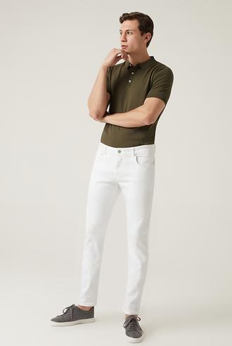 Damat Slim Fit Beyaz Denim Pantolon - 8682364487806 | Damat Tween
