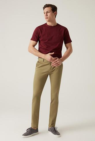 Damat Slim Fit Olıve Yeşili Chino Pantolon - 8682364484744   Damat Tween