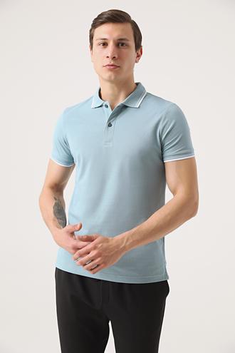 Twn Slim Fit Mint Pike Dokulu T-shirt - 8682060907912   D'S Damat