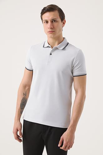 Twn Slim Fit Taş Pike Dokulu T-shirt - 8682060908285 | D'S Damat