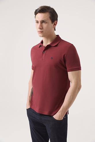 Ds Damat Regular Fit Bordo Pike Dokulu T-shirt - 8682060906748 | D'S Damat