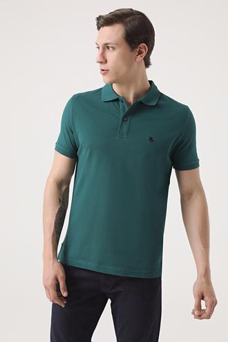 Ds Damat Regular Fit Haki Pike Dokulu T-shirt - 8682060906847 | D'S Damat