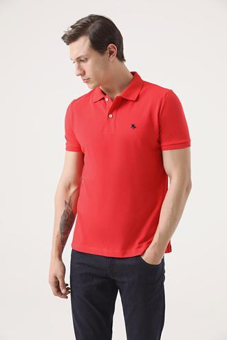 Ds Damat Regular Fit Mercan Pike Dokulu T-shirt - 8682060906885 | D'S Damat