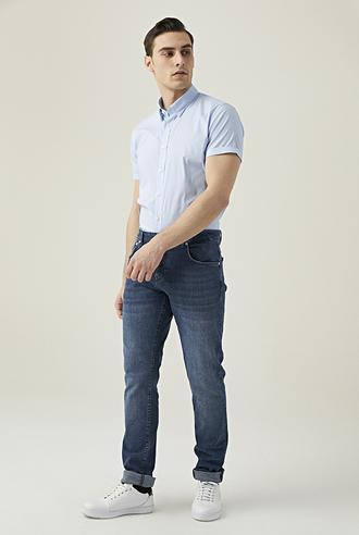 Damat Slim Fit Lacivert Denim Pantolon - 8681649510765 | D'S Damat