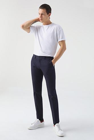 Damat Slim Fit Lacivert Chino Pantolon - 8682364276189 | D'S Damat