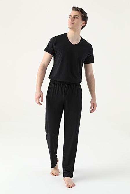 Damat Siyah Örme Pijama Alt - 8682364744428 | Damat Tween