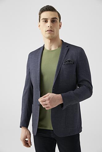 Tween Slim Fit Lacivert Kumaş Ceket - 8682364655090 | Damat Tween
