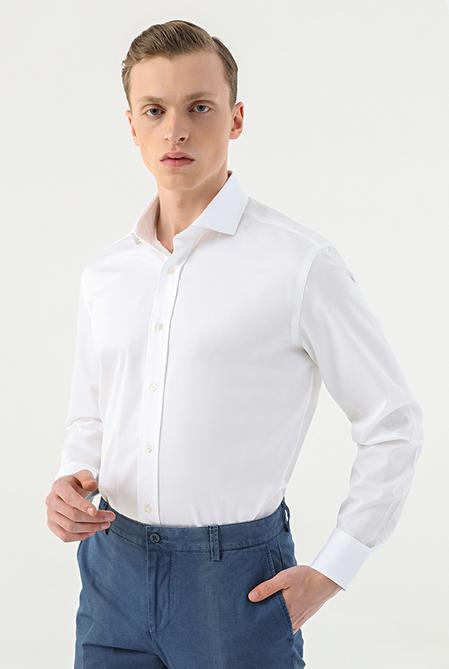 Damat Comfort Beyaz Düz Nano Care Gömlek - 8682364586240 | Damat Tween