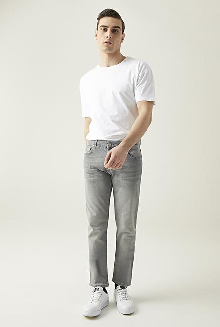 Damat Slim Fit Gri Denim Pantolon - 8682364201990   D'S Damat