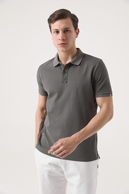 Damat Antrasit 60/2 Merserize T-shirt - 8682364566808 | Damat Tween
