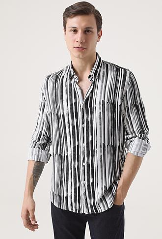 Tween Slim Fit Siyah Gömlek - 8682364653157 | Damat Tween