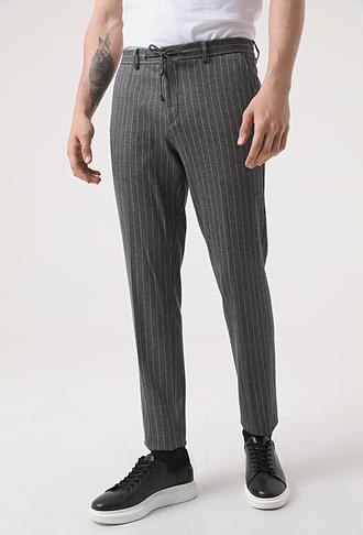 Damat Slim Fit Antrasit Örme Jogger Pantolon - 8682364539543 | Damat Tween