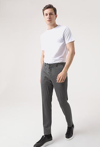 Damat Slim Fit Antrasit Örme Jogger Pantolon - 8682364649679 | Damat Tween