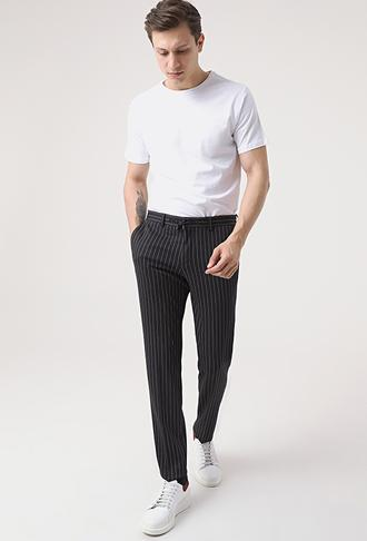Damat Slim Fit Lacivert Örme Jogger Pantolon - 8682364649860 | Damat Tween