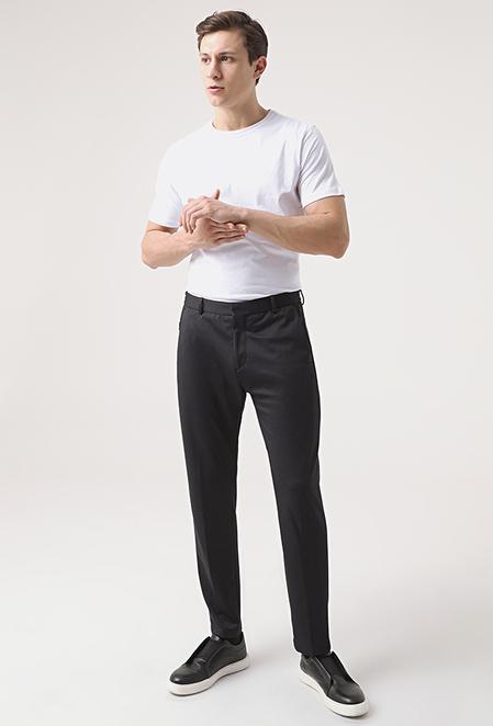 Tween Relaxed Fit Siyah Örme Jogger Pantolon - 8682364658077 | Damat Tween