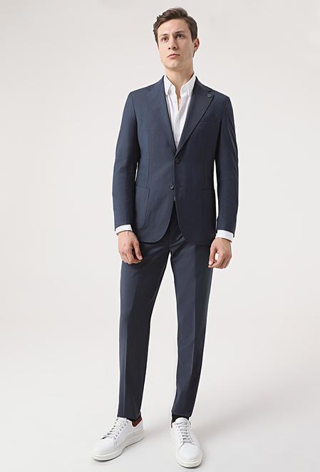 Damat Slim Fit Lacivert Takım Elbise - 8682364644322   Damat Tween