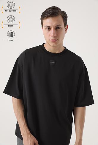 Tween Siyah Recycle T-shirt - 8682364815142 | Damat Tween