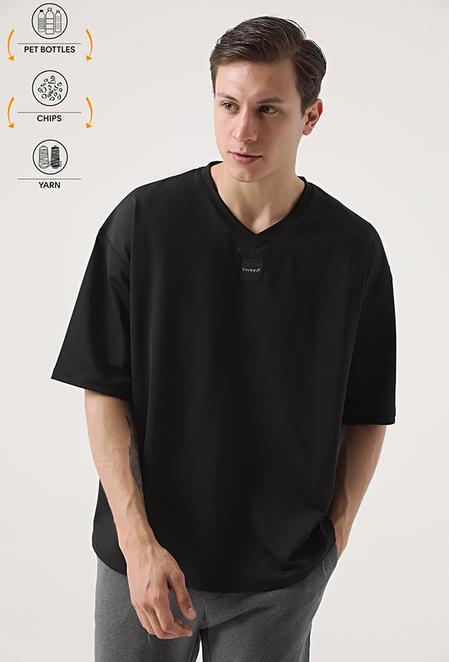 Tween Siyah Recycle T-shirt - 8682364815371 | Damat Tween