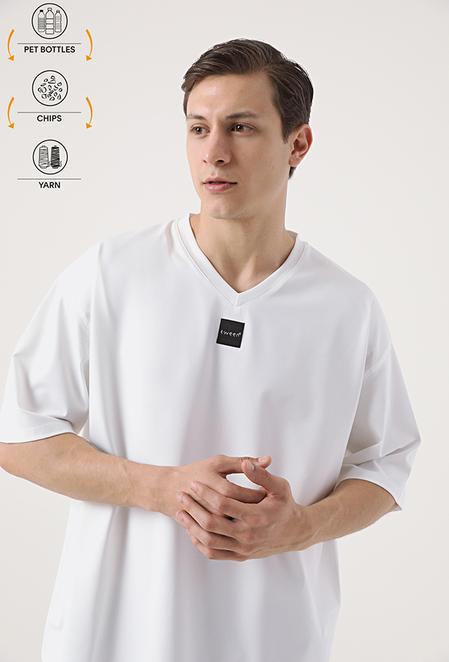 Tween Ekru Recycle T-shirt - 8682364815746 | Damat Tween