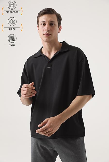 Tween Siyah Recycle T-shirt - 8682364815883 | Damat Tween