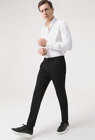 Tween Slim Fit Siyah Kumaş Pantolon - 8682364591510 | Damat Tween