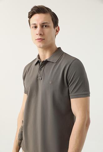 Ds Damat Regular Fit Antrasit Pike Dokulu T-shirt - 8682445084160 | D'S Damat