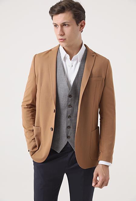Tween Slim Fit Tarçın Kombinli Takım Elbise - 8682364544424   Damat Tween
